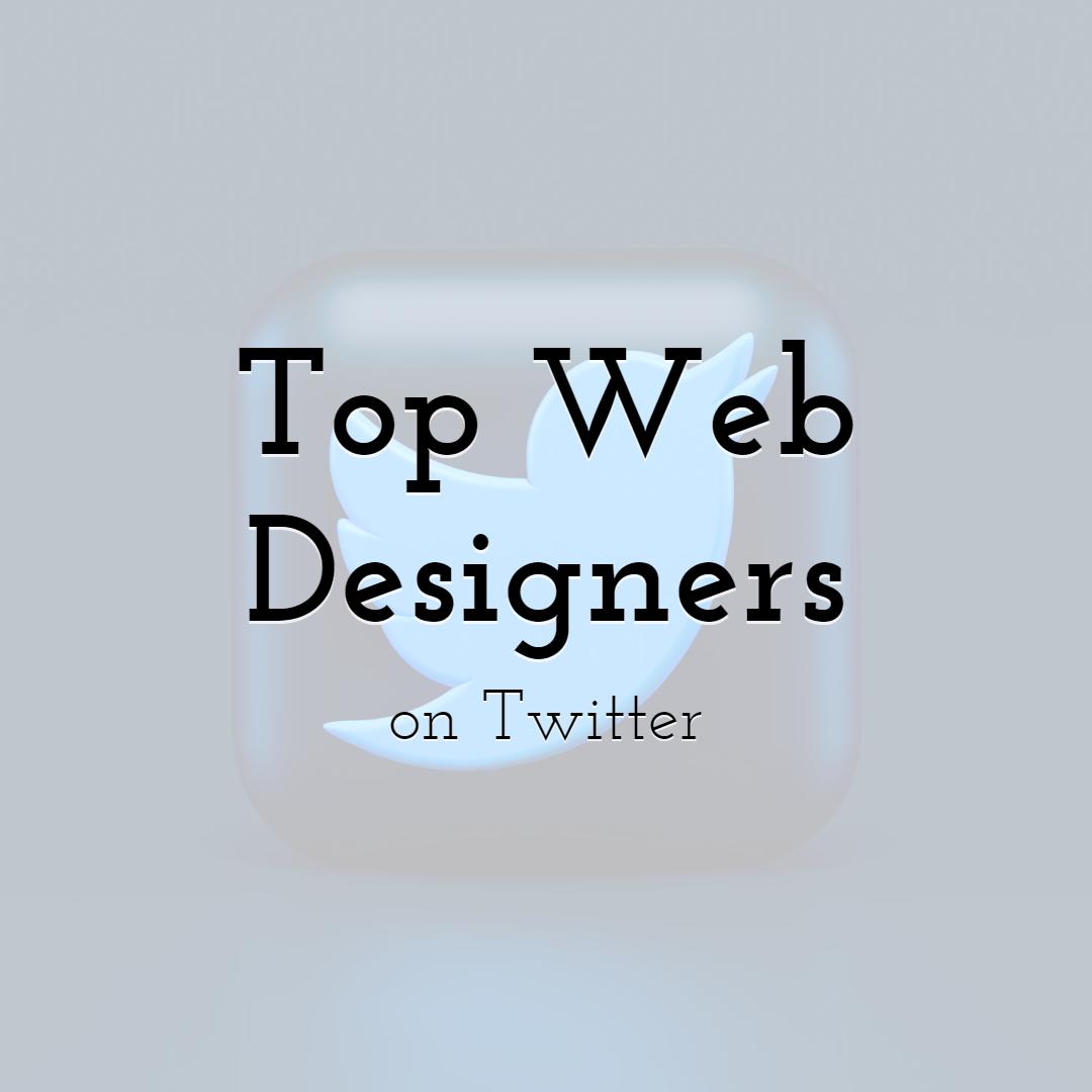 Top Web Designers on Twitter