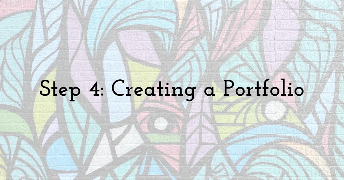 Step 4: Creating a Portfolio