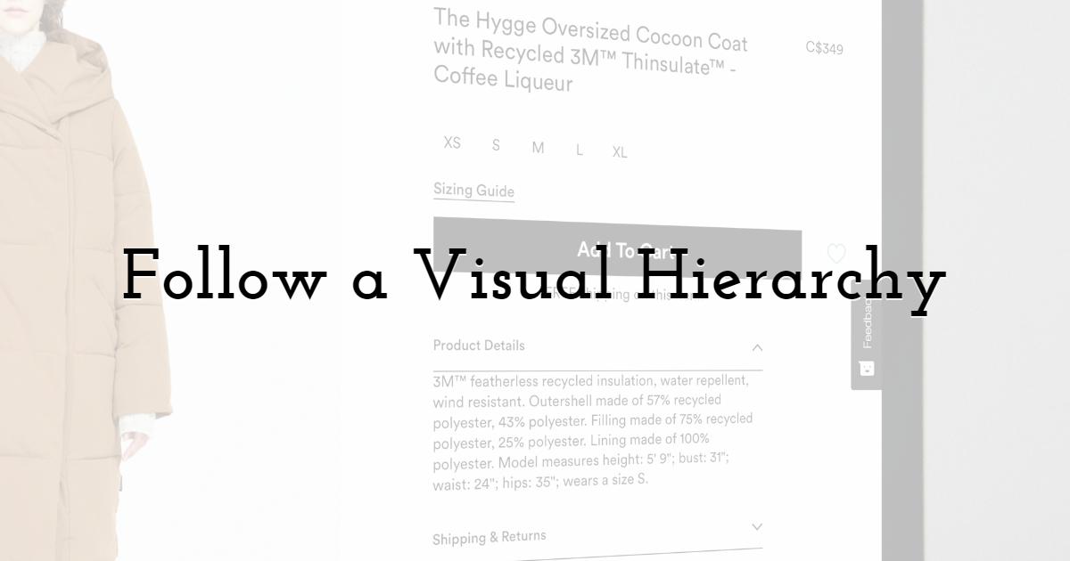 Follow a Visual Hierarchy