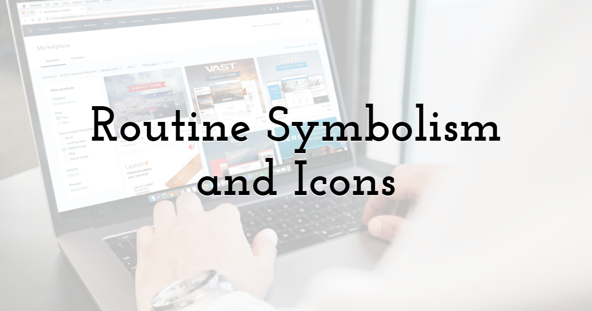 Routine Symbolism and Icons