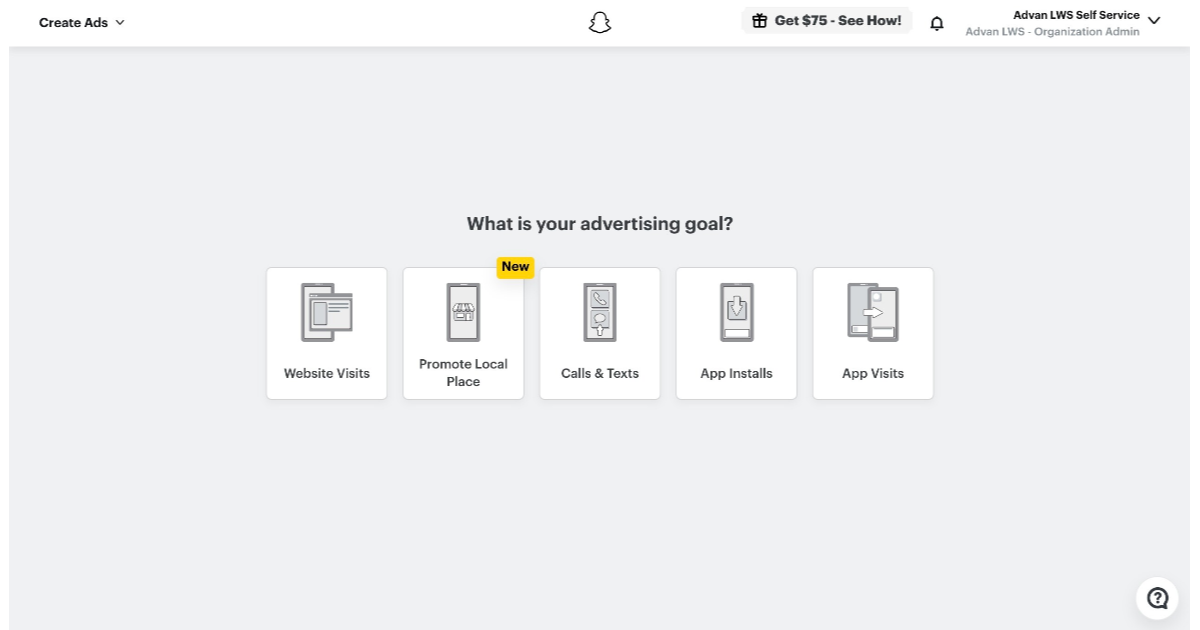 Choose the type of Ad