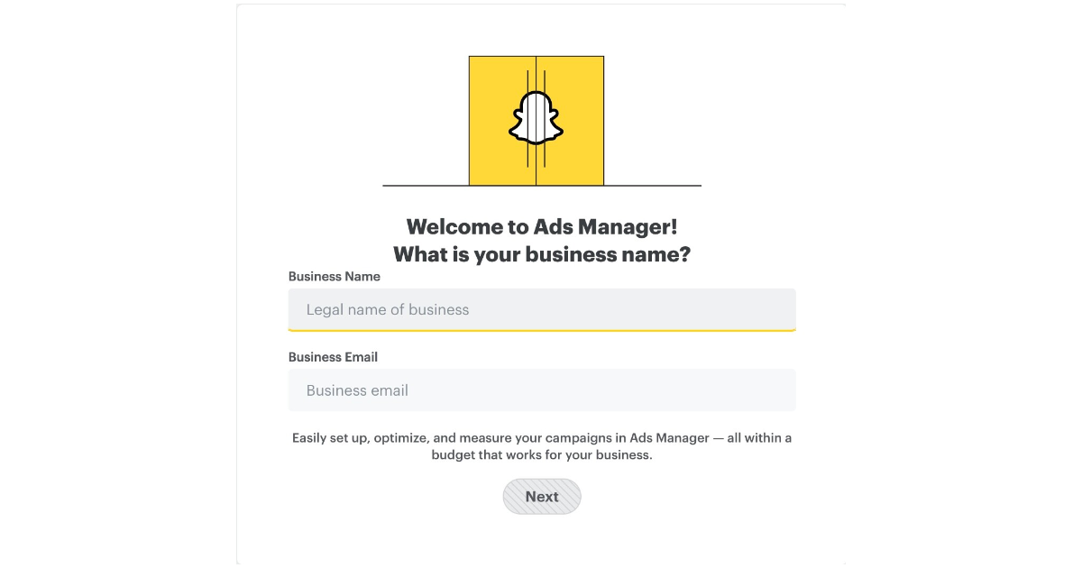 Sign up for the Snapchat Publisher