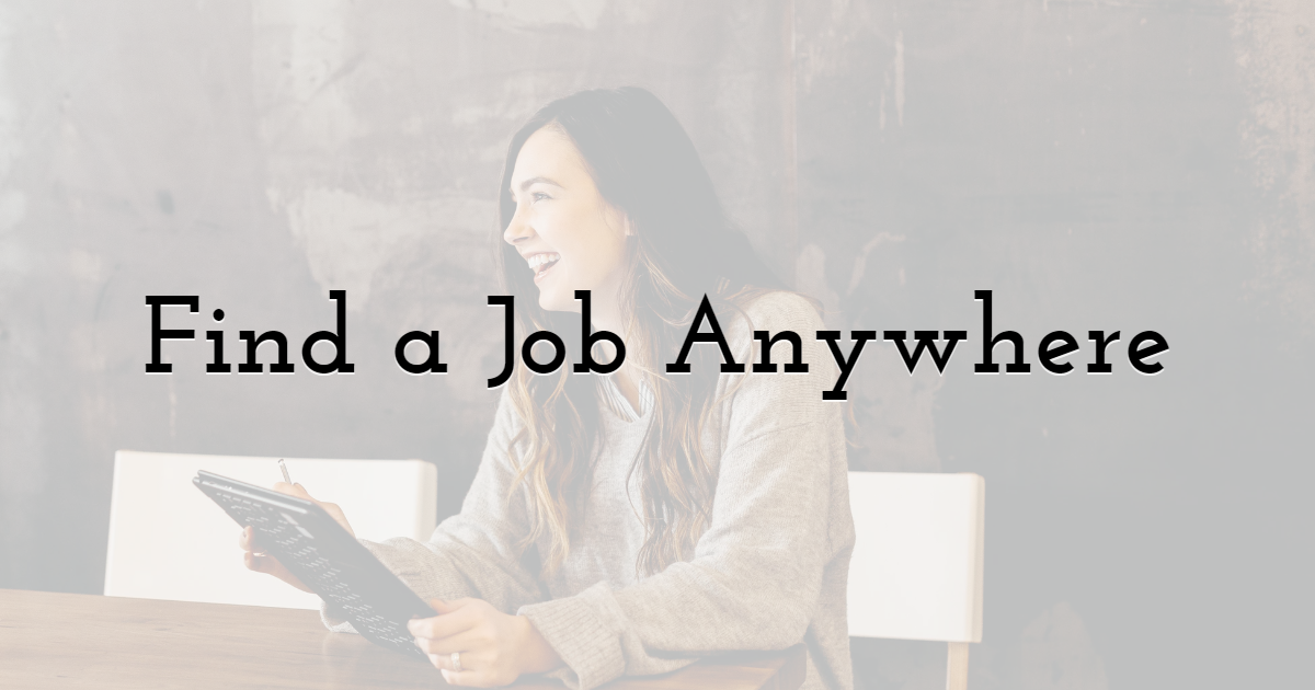 Find a Job in Any Industry