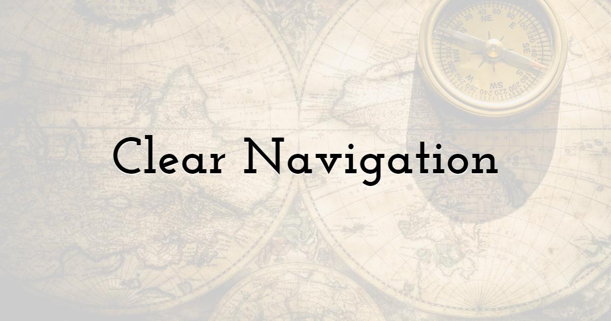 Clear Navigation