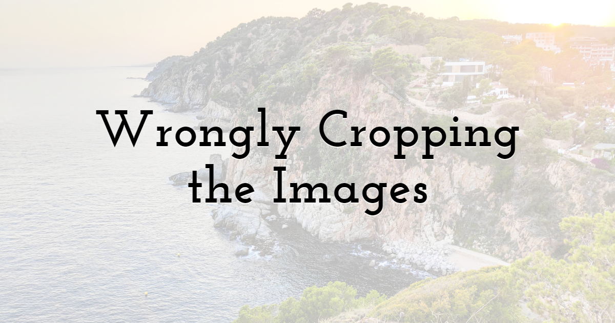 Wrongly Cropping the Images