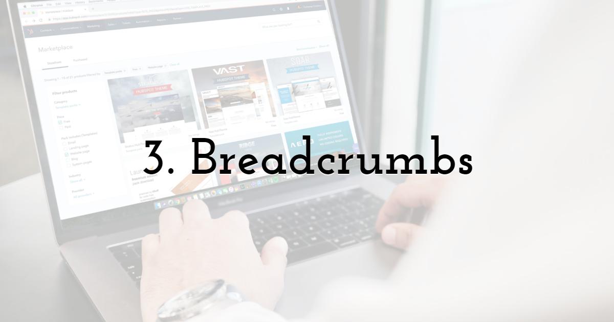 3. Breadcrumbs