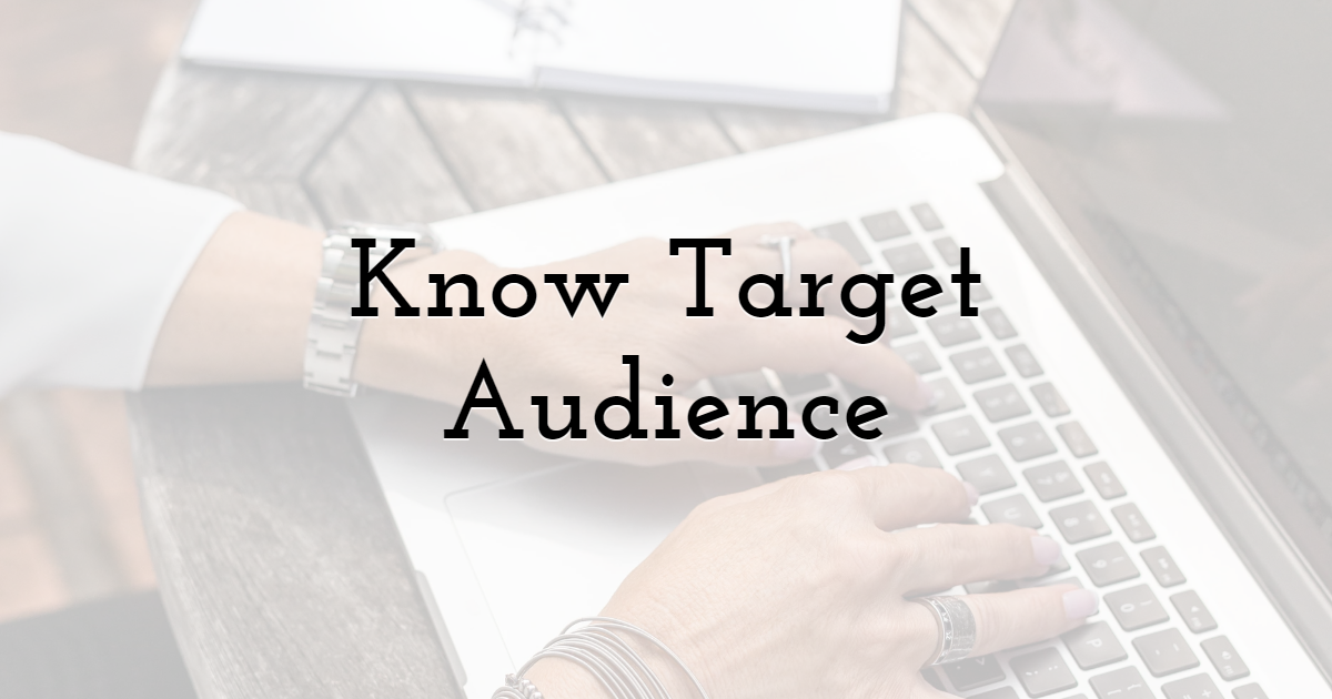 Know Target Audience