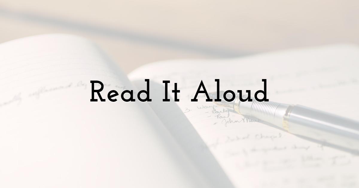 Read It Aloud