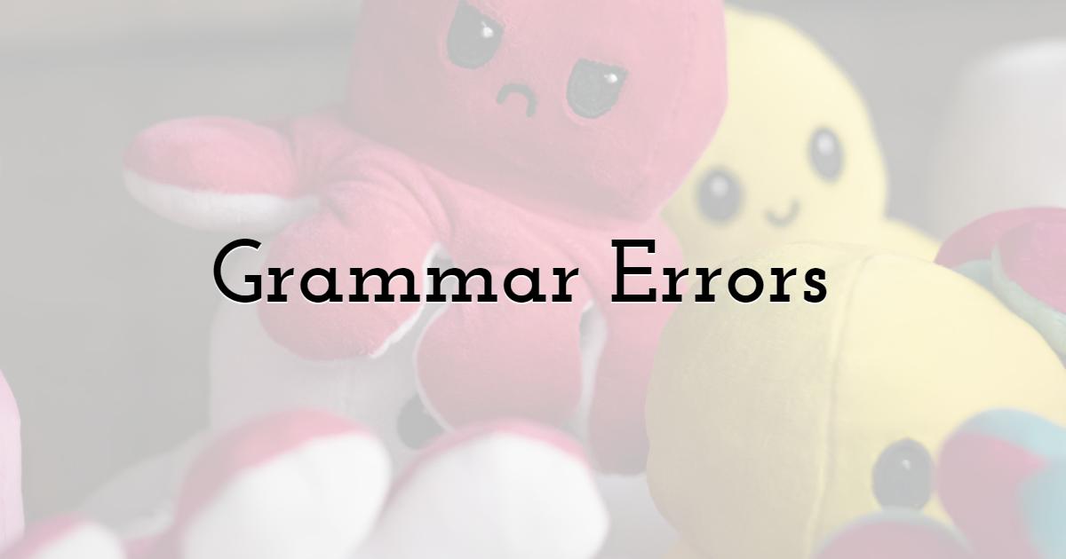 Grammar Errors