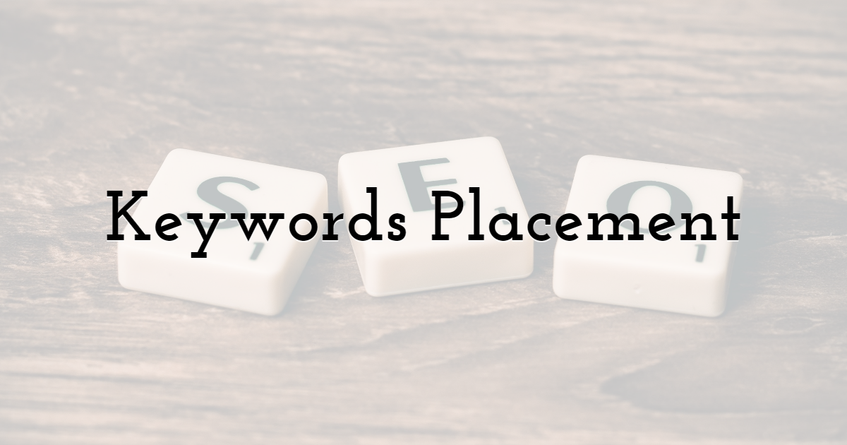 Keywords Placement