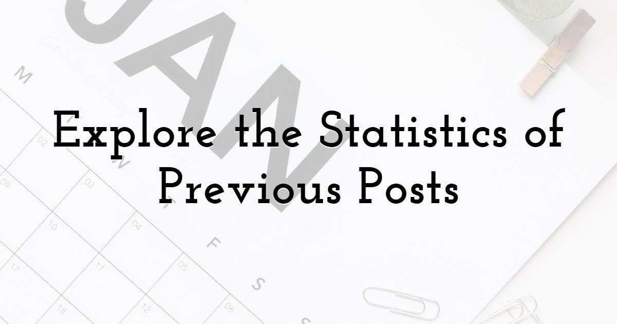 Explore the Statistics of Previous Posts