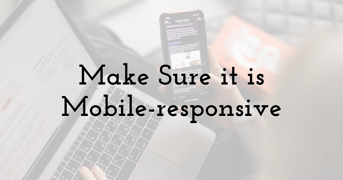 Make Sure Your Newsletter is Mobile-responsive