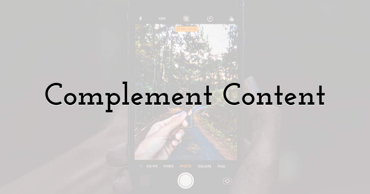 4. Complement Content