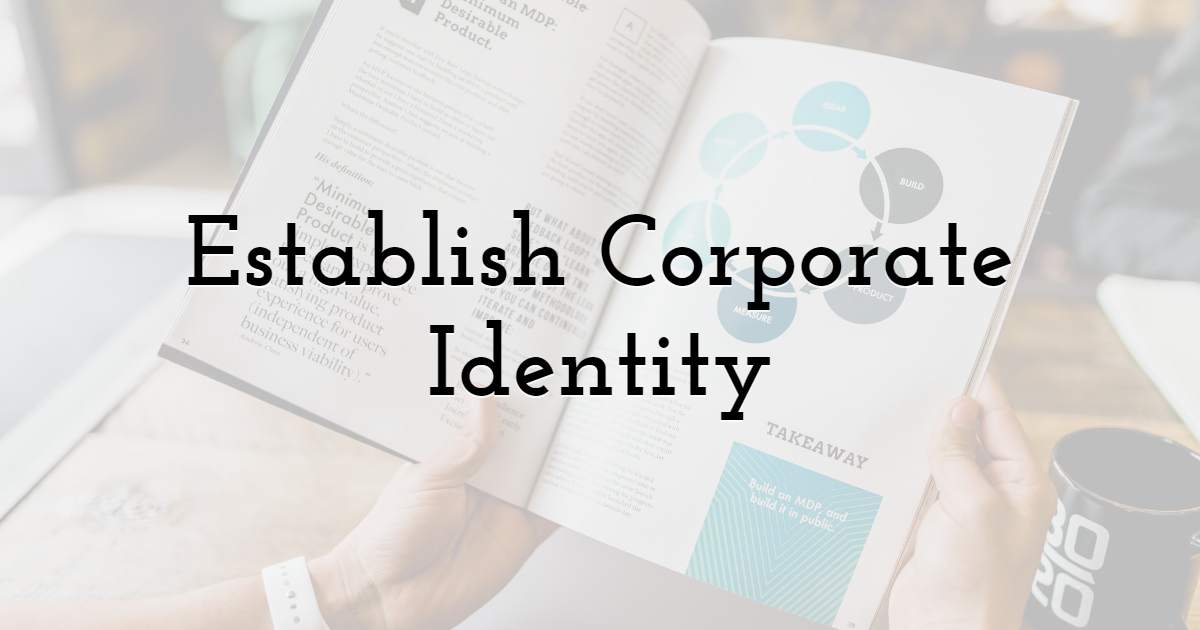 Establish Corporate Identity