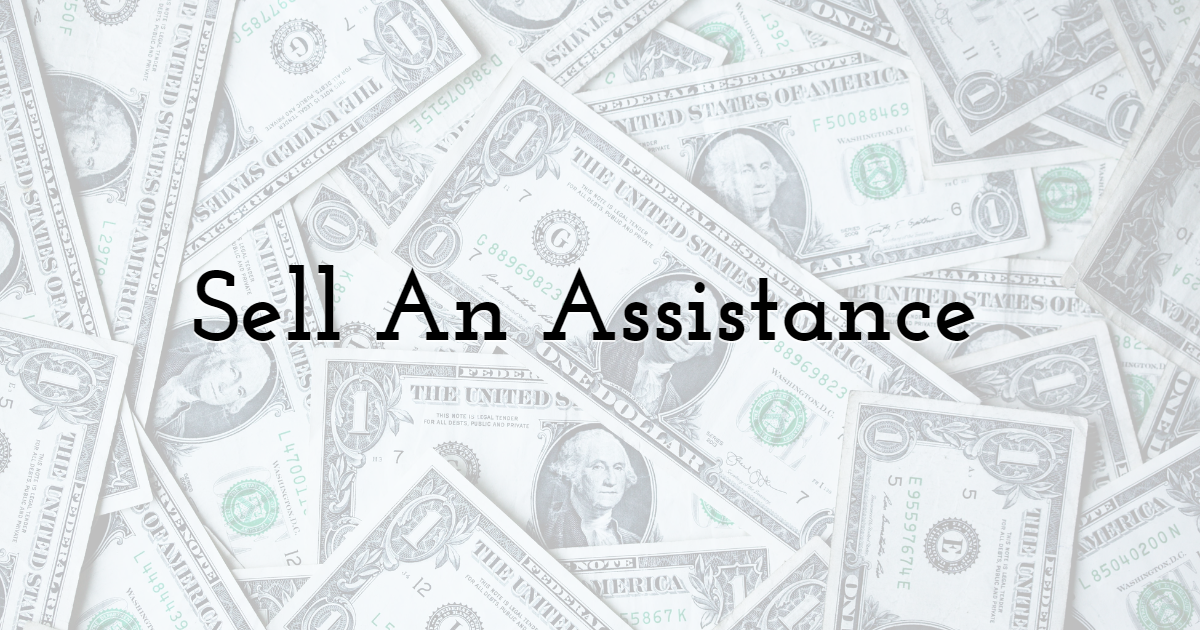 Sell An Assistance