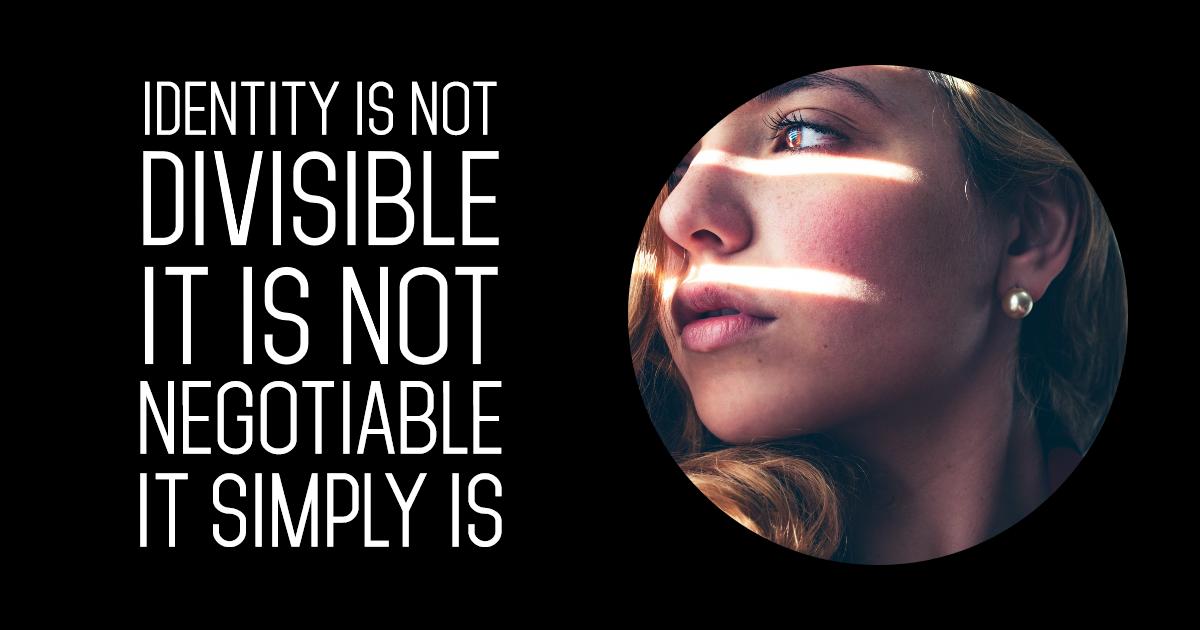 IDENTITY unique #poster #quote Design  Template