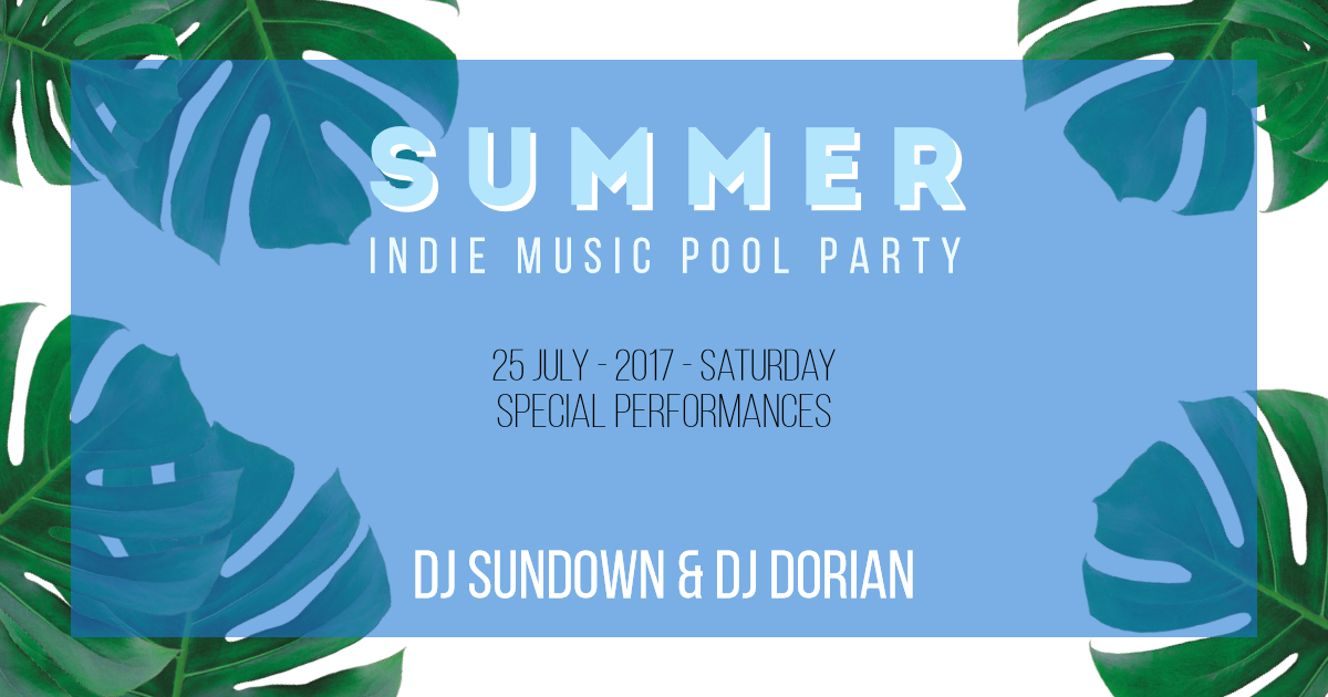 Summer Party Card -  #invitation Design  Template