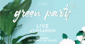 green party #summer #party #invitation #poster #green