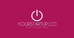 Logo card design for social media #logo