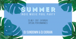 Summer Party Card -  #invitation #summer #socialmedia #fun #vacation #fun