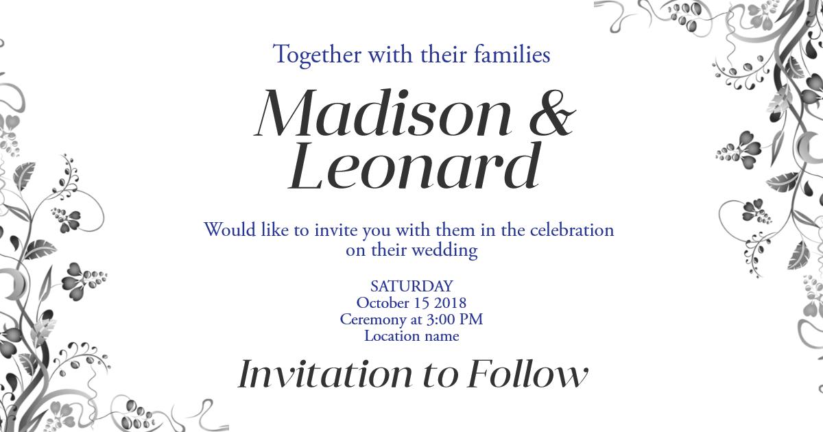 Wedding invitation card design - Design  Template