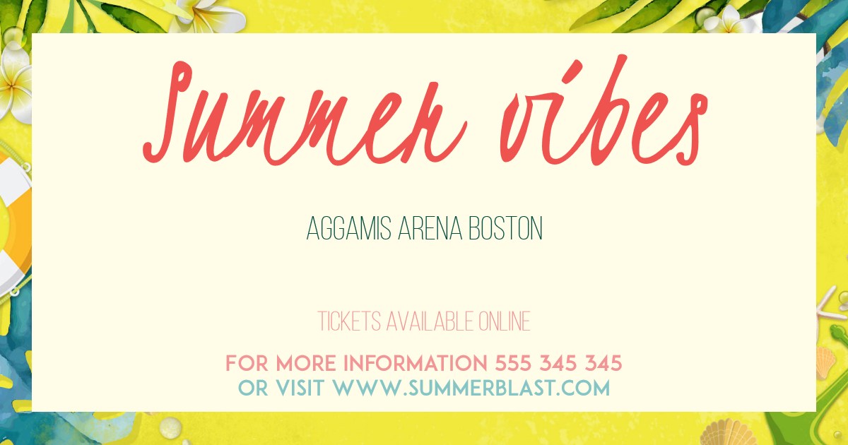 Summer vibes card invitation easy to Design  Template