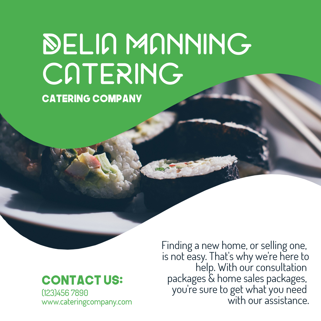 Call to action catering company Design  Template