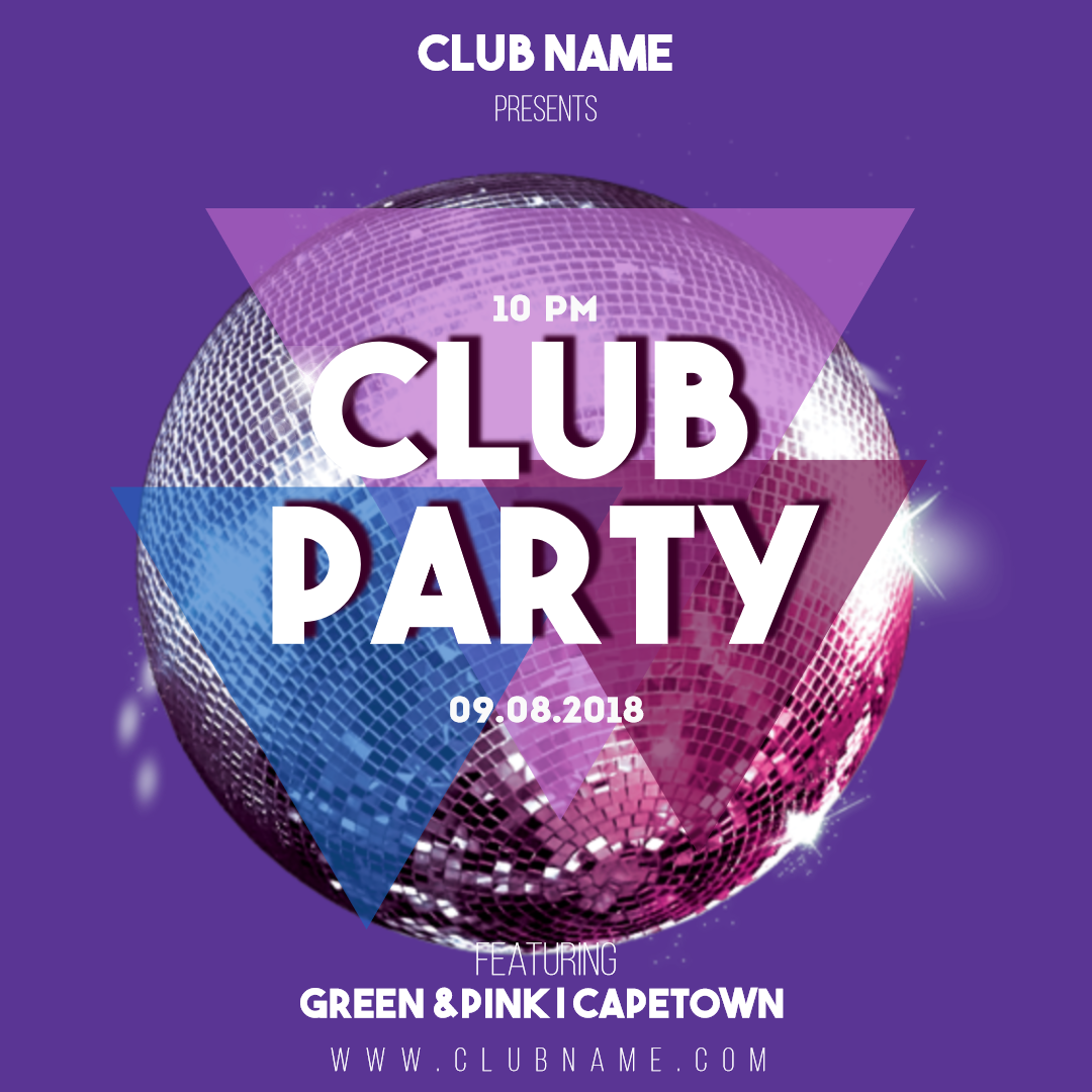 Club Party Invitation Card Easy To Design Template 1454985