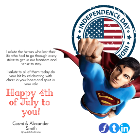 4th of July superman annyversary poster easy to customize #4thofjuly #happyforthofjuly #independenceday #independence #day #america #anniversary