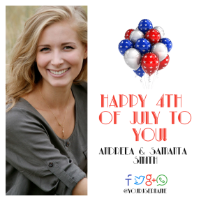Anniversary design template - 4th of July message #4thofjuly #happyforthofjuly #independenceday #independence #day #america #anniversary