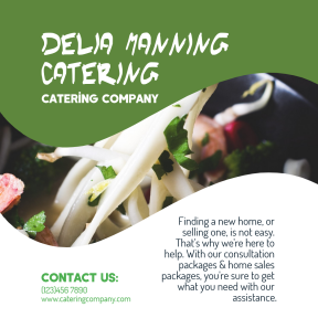 Business design template easy to customize on PixTeller - Catering company #sale #catering #food #business #poster #calltoaction #consulting