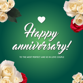 Happy anniversary card template #anniversary #couple #love