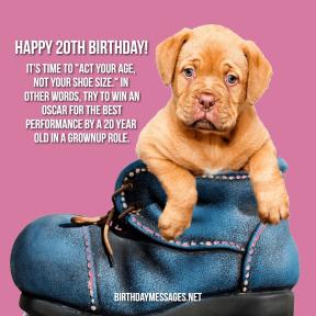 20th birthday wishes - 8
