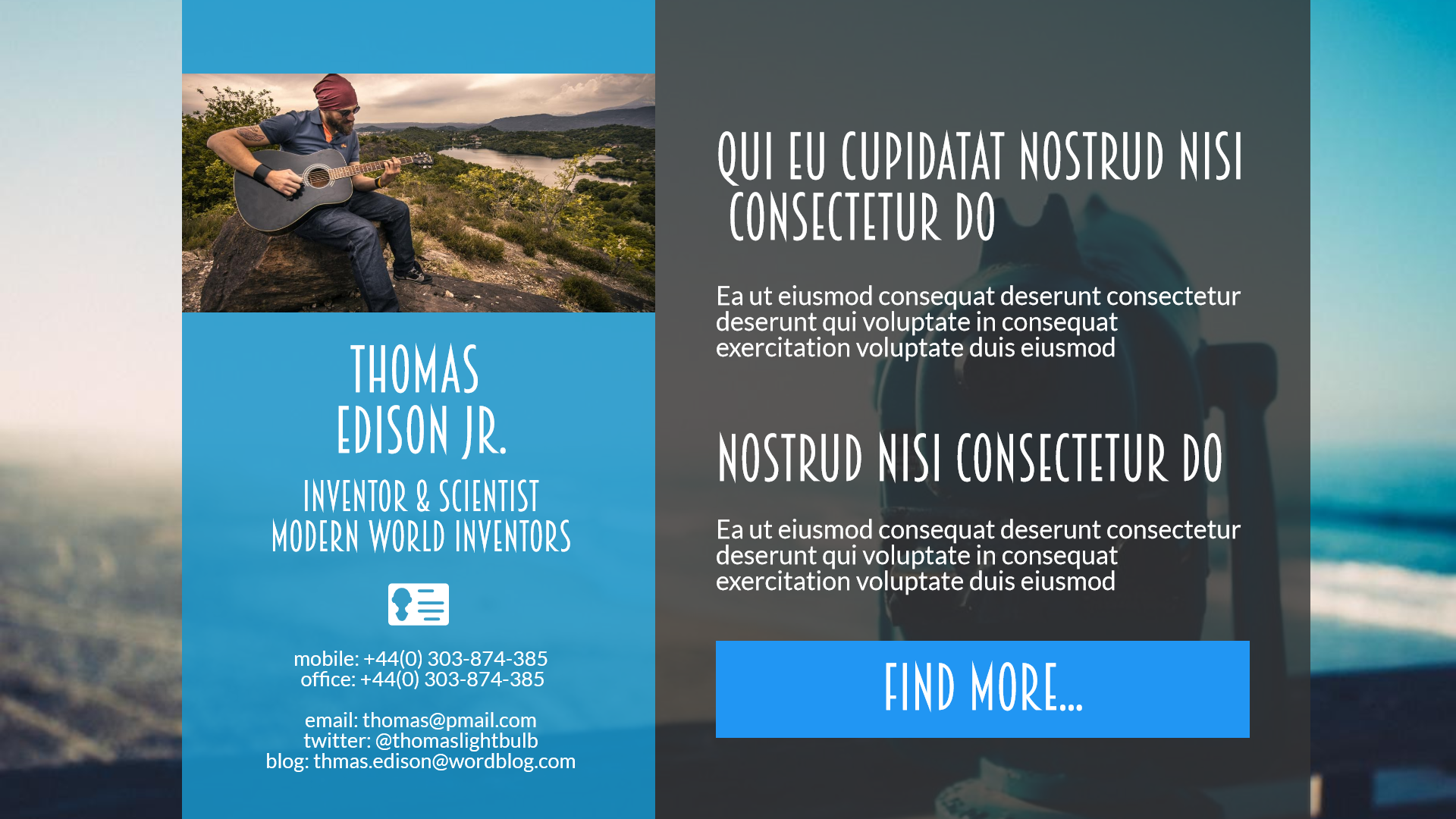 Presentation card for social media - Design  Template