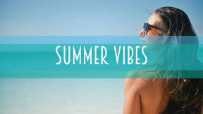 Summer vibes card design - #summer #ocean #beach #fun #vacation #vibes #waves #sea #poster