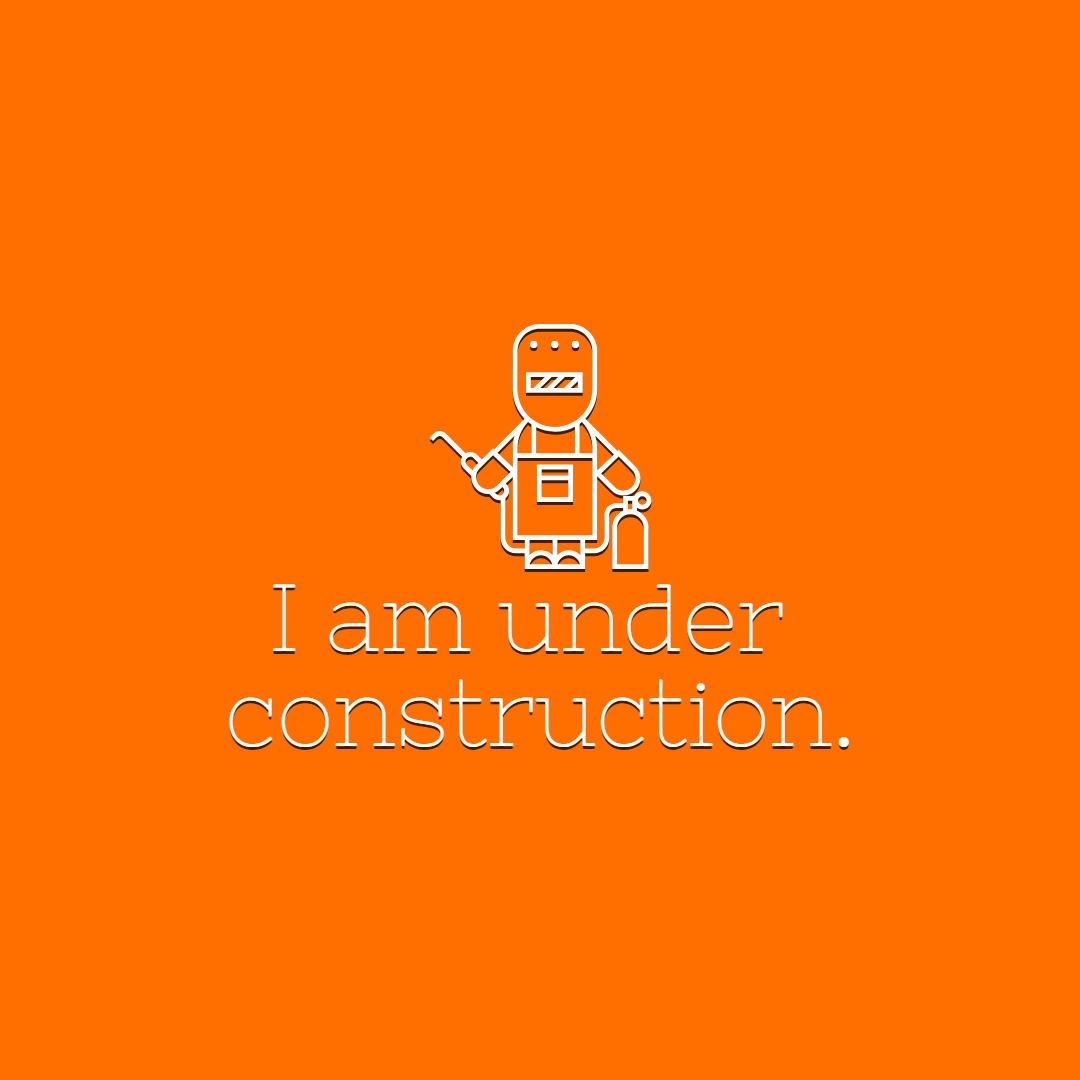 I am under construction #Quote Design  Template