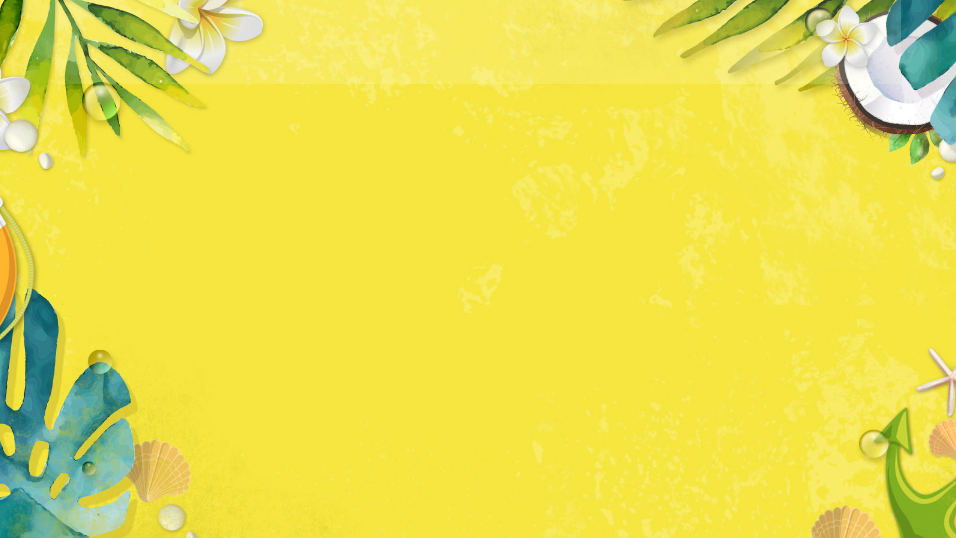 Summer vibes card invitation easy to Animation  Template